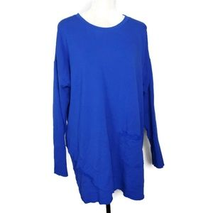 Soft Surroundings Royal Blue Pullover Sweater 2X